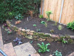 Small Patio & Raised Flowerbed