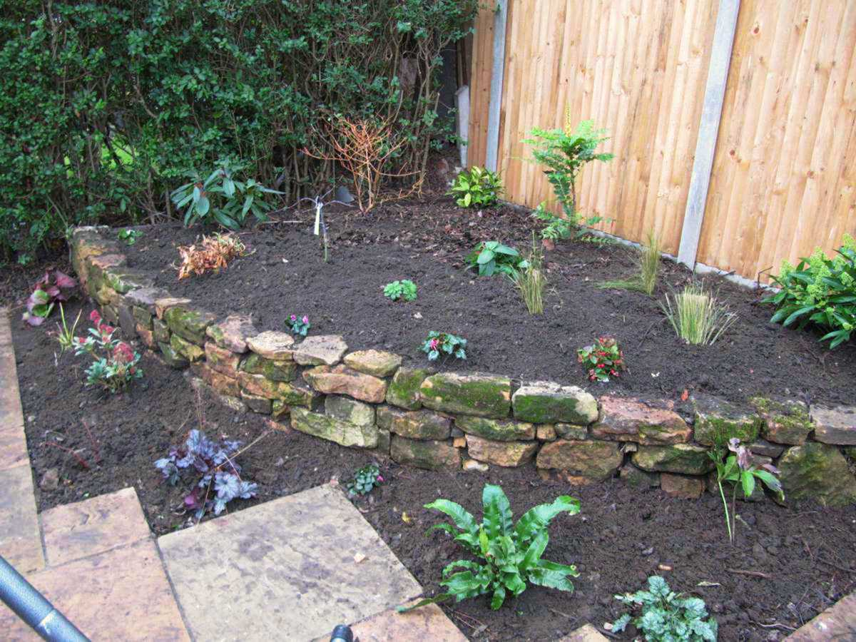 Small Patio & Raised Flowerbed