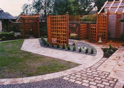 Wooden Pergola Landscape Design