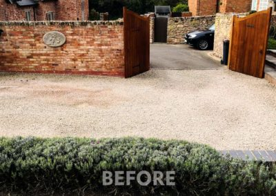 Resin Bound Aggregate - Before