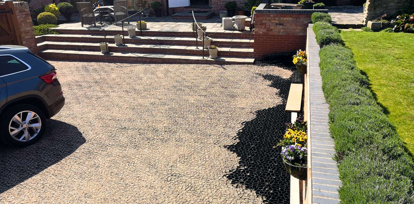 Resin Bound Aggregate - During