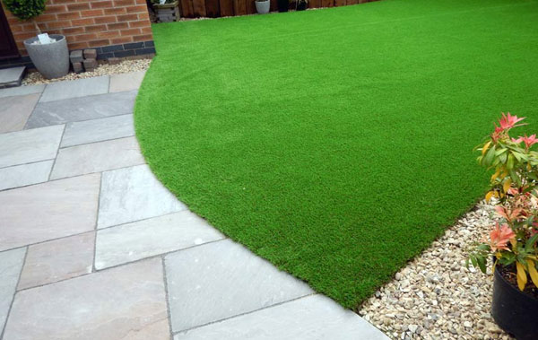 artificial grass installed by landscape gardeners