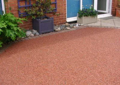 Resin bound aggregate bay