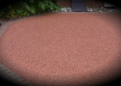 resin bound aggregate parking bay