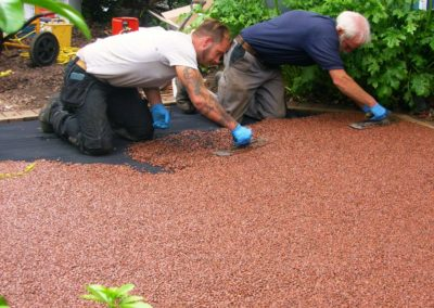 resin bound aggregate install 2